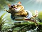 Avı ile Savaşan Kedi