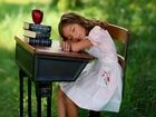 Ders Çalışırken Uyuyan Kız Yapbozu