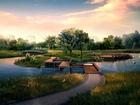 Gölet Manzarası Yapbozu