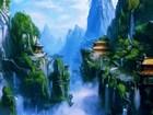 Kayalıklardaki Japon Evleri