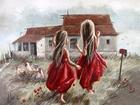 Kırmızı Elbiseli Kızlar