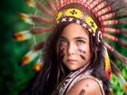 Kızılderili Kız Çocuğu