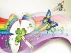 Rengarenk Kelebekler ve Üç Yapraklı Yonca Yapbozu