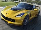 Sarı Chevrolet Corvette Z06
