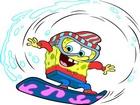 Sünger Bob Su Kayağı Yaparken