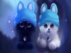 Tavşan Kulaklı Yavru Kediler Yapbozu