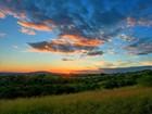Yeşillik Bulutlar ve Gün Batımı Yapbozu
